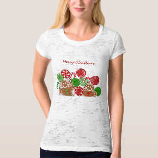 Trendy red Christmas gingerbreads Shirt