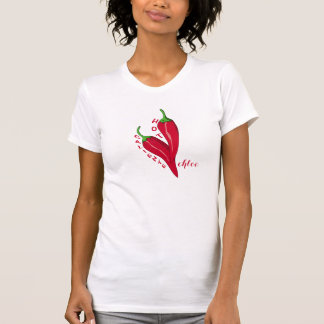 Trendy Red Hot Caliente Chili Peppers Tshirts