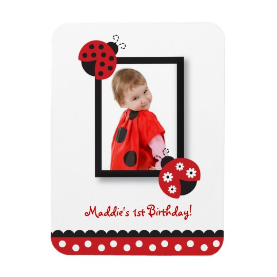 Trendy Red Ladybug Photo Magnet Party Favour