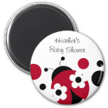 Trendy Red Ladybug Polka Dot Party Favour Magnets