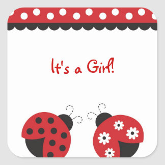 Trendy Red Ladybug Stickers Envelope Seals