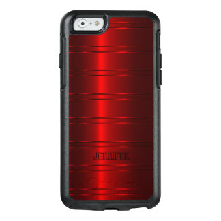 Trendy Red Shiny Stripes OtterBox iPhone 6/6s Case