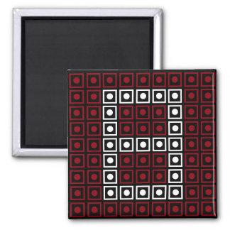 Trendy Red, White & Black 8-bit LED Pixel Number 8 Magnet