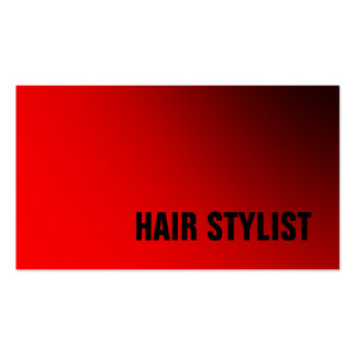 Trendy Red White Modern Hair Stylist Pack Of Standard Business Cards