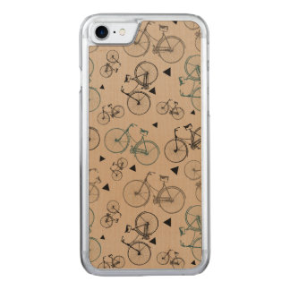 Trendy Retro Style Bicycles Pattern Carved iPhone 8/7 Case