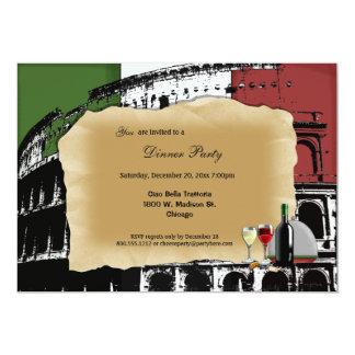 "Trendy Roman Coliseum Dinner Party Invite 5"" X 7"" Invitation Card"