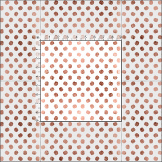 Trendy rose gold polka dots brushstrokes pattern fabric