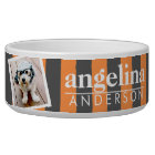 Trendy Rugby Striped Pattern Custom Name and Photo