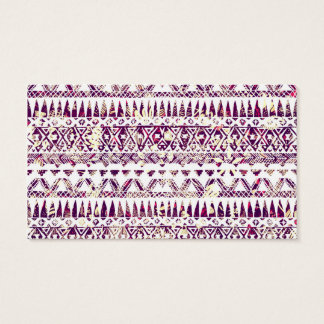 Trendy Rustic Tribal Aztec Pattern Business Card