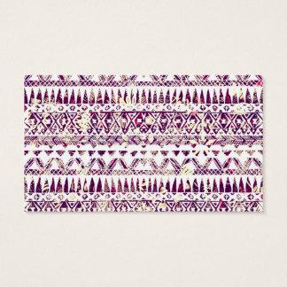 Trendy Rustic Tribal Aztec Pattern Business Card