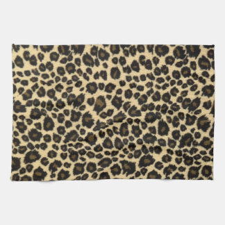 Trendy Safari Leopard Print Tea Towel