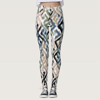 Trendy Scratchy Diamond Print Leggings