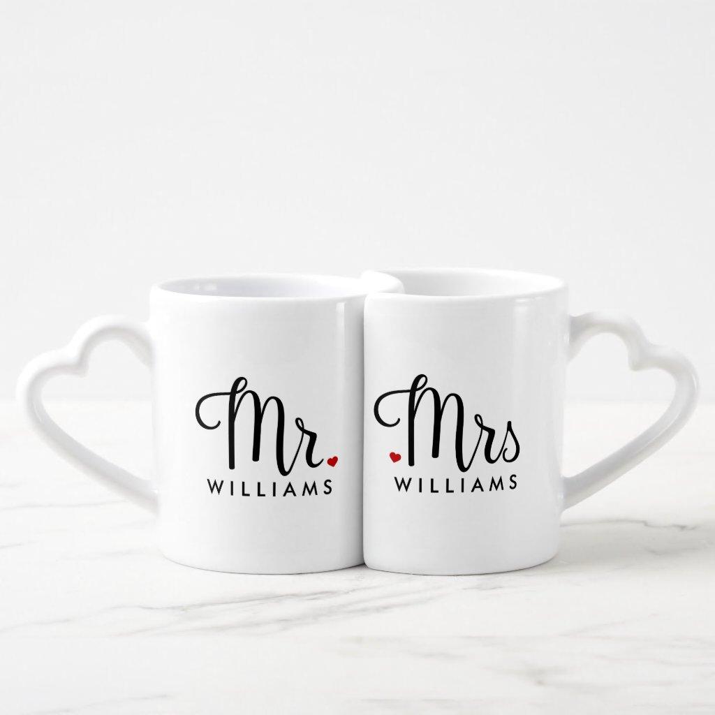 Trendy Script Mr. and Mrs. Mug
