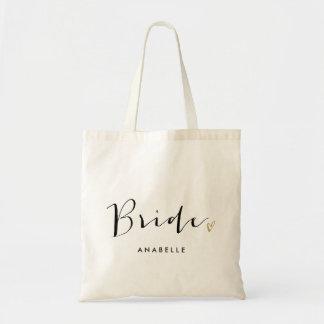 "Trendy Script Typography ""Bride"""