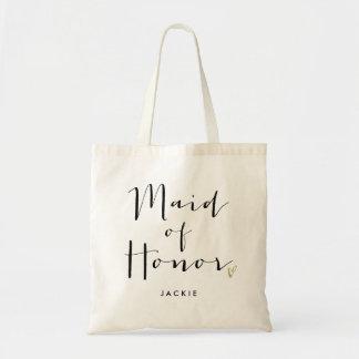 "Trendy Script Typography ""Maid of Honor"""