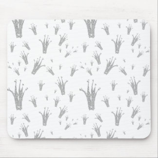 Trendy silver Crown Pattern Mouse Pad