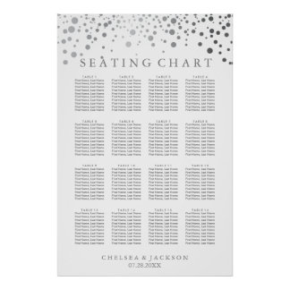 Trendy Silver Dots - Seating Chart