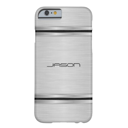 Trendy Silver Metallic Design Barely There iPhone 6 Case