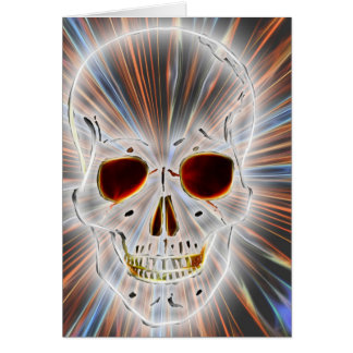 Trendy Skull Gothic Greeting Card