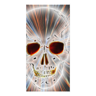 Trendy Skull Gothic Personalized Photo Card