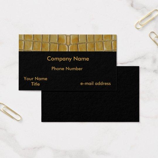 Trendy Snake skin Business Card