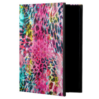 trendy snake skin leopard animal print blend neon case for iPad air