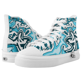 #Trendy Sneakers university sex blue/Weis/abstract