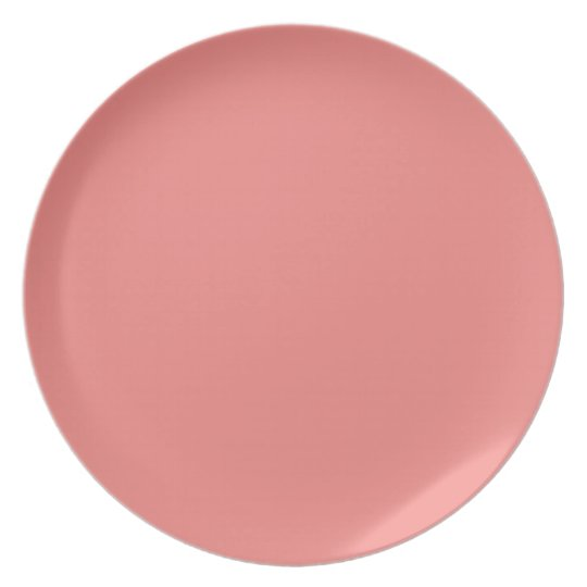 Trendy Solid Coral Colour | Melamine Plate