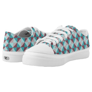 Trendy square and triangle pattern low tops