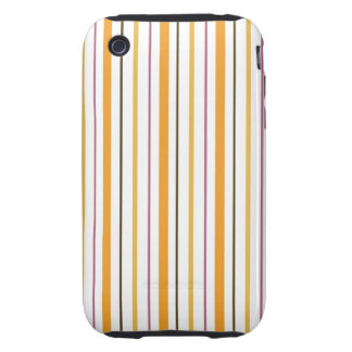 Trendy Striped Case Tough iPhone 3 Cases