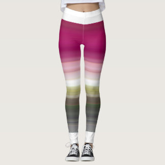 Trendy stripy leggings