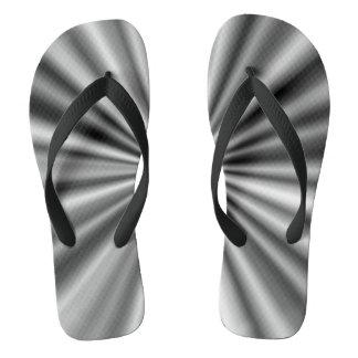 Trendy Stylish Black and White Pattern Flip Flops