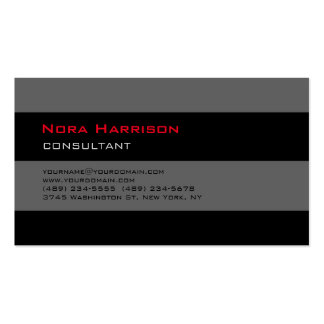 Trendy Stylish Black Grey Professional Consultant Pack Of Standard Business Cards