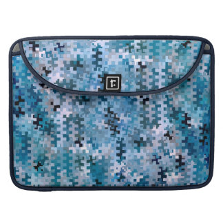 Trendy Stylish Blue Pattern Sleeves For MacBook Pro