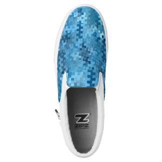 Trendy Stylish Blue Pattern Slip On Shoes