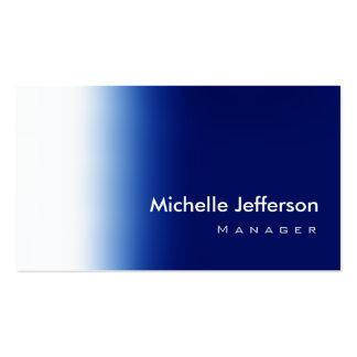 Trendy Stylish Blue White Business Card