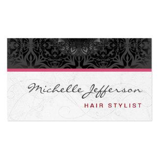 Trendy Stylish Cute Grey Pattern Business Card