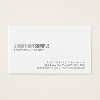 Trendy Stylish Modern Graphic Simple Plain Luxury Business Card