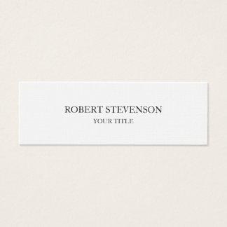 Trendy Stylish Plain Slim Professional Minimalist Mini Business Card
