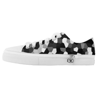 Trendy Stylish Unique Black/White Design Low Tops