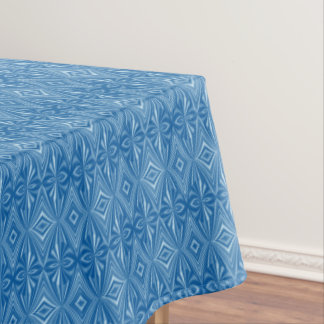 Trendy Stylish Unique Blue Pattern Tablecloth
