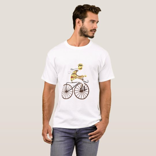 Trendy t-shirt cyclist ride bicycle vintage