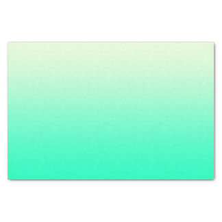 Trendy Teal to Vintage White Ombre Gradient Tissue Paper