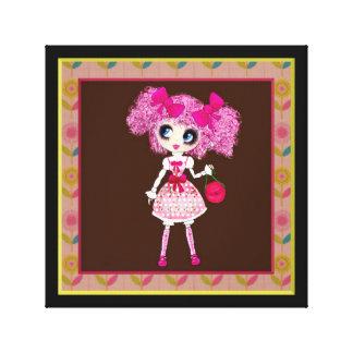 Trendy Teen Girl Fashion Doll PinkyP Gallery Wrap Canvas