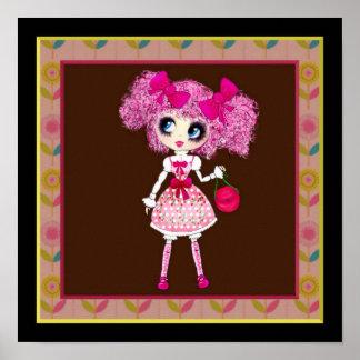Trendy Teen Girl Fashion Doll PinkyP Print
