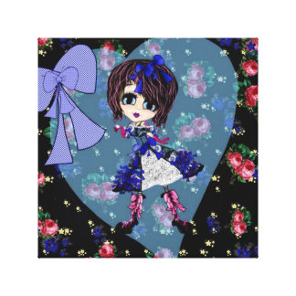 Trendy Teen Girl Saphire Goth PinkyP Stretched Canvas Print