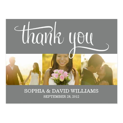 TRENDY THANKS | WEDDING THANK YOU CARD POST CARD
