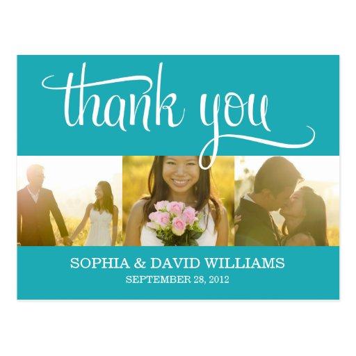 TRENDY THANKS | WEDDING THANK YOU CARD POSTCARDS
