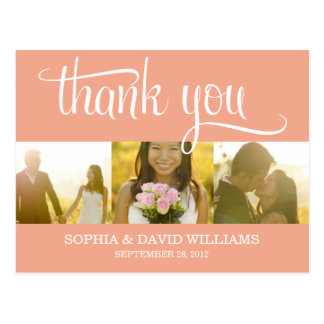 TRENDY THANKS | WEDDING THANK YOU CARD POST CARDS