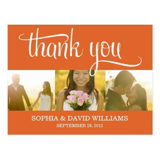 TRENDY THANKS | WEDDING THANK YOU CARD POSTCARD